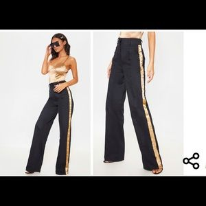 NWT🏷 PrettyLittleThing Side Ribbon Trousers 10
